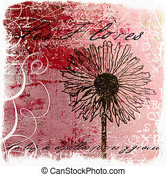 handpainted flower artwork, artwork is created and painted...