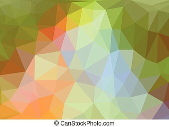 Abstract 3D Polygonal Background, Vector