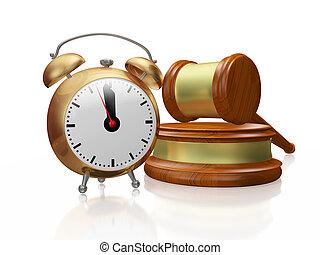 Copper Alarm Clock and Judge Gavel Mallet - A 3D...