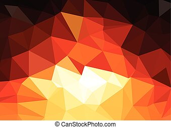Geometric low poly graphic repeat pattern made out of...