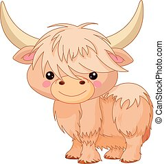 Yak - Illustration of cute yak