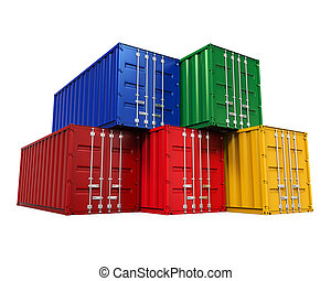Stacked Shipping Container