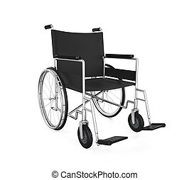 Wheelchair Isolated - Wheelchair isolated on white...