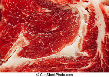 fresh raw meat texture, closeup view