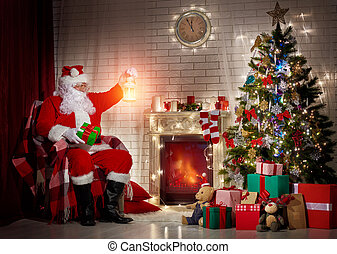 Santa Claus - Portrait of funny Santa Claus
