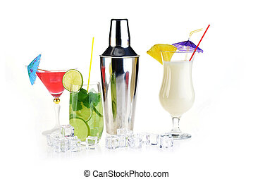 cocktail drinks - Collection of cocktail drinks in special...