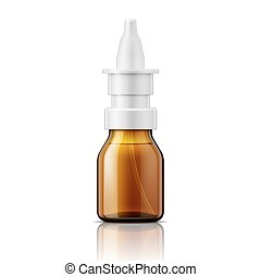 Glass nasal spray bottle - Brown glass nasal spray bottle...