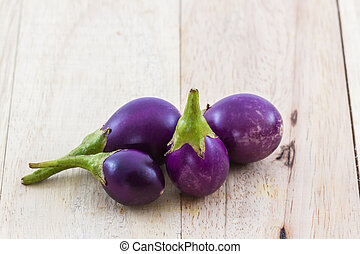 Thai purple eggplants or purple small brinjal - Thai purple...