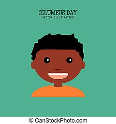 Columbus Day - abstract columbus day background with a...