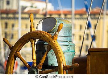 Rudder - old sailboat rudder