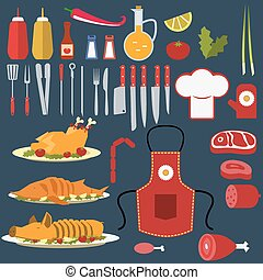 Set of the cooking objects.eps