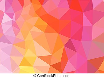 Vivid color low poly mosaic background