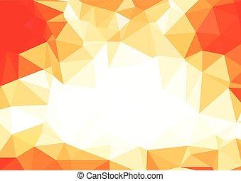 Abstract 3D Polygonal Vibrant mosaic