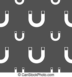 magnet sign icon horseshoe it symbol Repair sig Seamless...