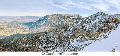 Mountain crest panorama - Panorama. Germany, Bad...