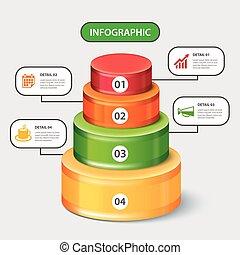 circular bar infographic template