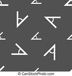 Angle 45 degrees icon sign Seamless pattern on a gray...