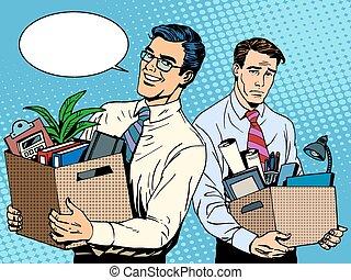 job dismissal and employment pop art retro style The joy of...