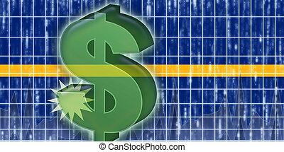 Flag of Nauru finance economy