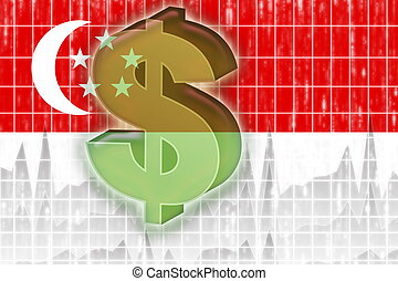 Flag of Singapore finance economy - Flag of Singapore,...