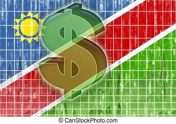 Flag of Namibia finance economy