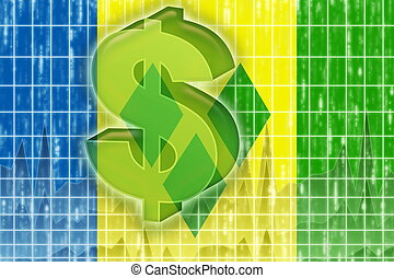 Flag of Saint Vincent and Grenadines finance economy - Flag...