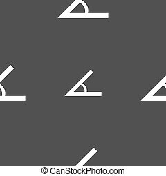Angle 45 degrees icon sign. Seamless pattern on a gray...