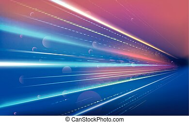 Colourful light rays - Illustration of Colourful light rays