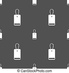army chains icon sign. Seamless pattern on a gray background. Vector