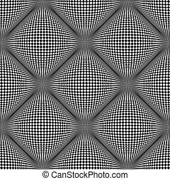 Seamless pattern. 3D optical illusion. - Seamless checked...