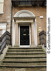 Georgian black door - Georgian black Dublin door