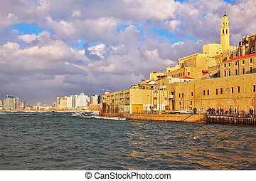 Old Jaffa at sunset Tel Aviv, Israel