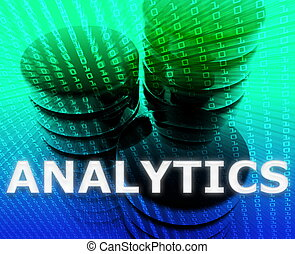 Data analytics illustration - Data analytics abstract,...