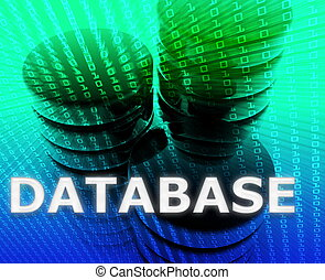 Database data storage - Database Data storage abstract,...
