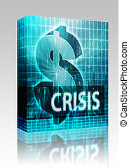 Crisis Finance illustration box package - Software package...