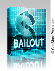 Bailout Finance illustration box package - Software package...