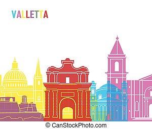 Valletta skyline pop