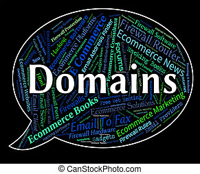 Domains Word Indicates Words Web And Text - Domains Word...