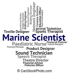 Marine Scientist Shows Sea Recruitment And Hire