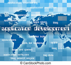 Application Development Means Enlargement Word And Programs...