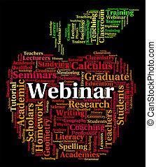 Webinar Word Means Online Webinars And Www - Webinar Word...