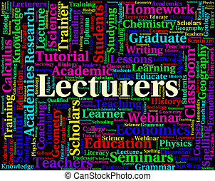 Lecturers Word Shows Words Address And Sermon - Lecturers...