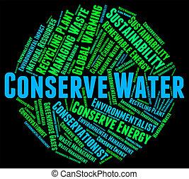 Conserve Water Represents Preserve Aqua And Save - Conserve...