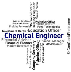 Chemical Engineer Represents Chemically Work And Jobs