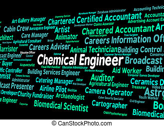 Chemical Engineer Shows Word Mechanics And Chemicals -...
