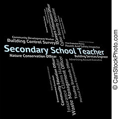 Secondary School Teacher Means Give Lessons And Academies -...