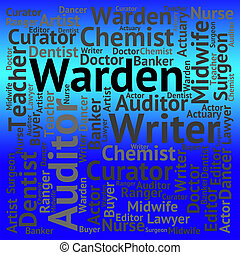 Warden Job Shows Keeper Words And Occupations - Warden Job...