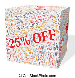 Twenty Five Percent Indicates Bargain Save And Word - Twenty...