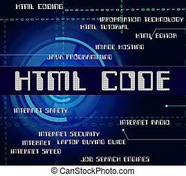 Html Code Shows Hypertext Markup Language And Cipher - Html...