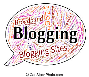 Blogging Word Indicates Site Words And Weblog - Blogging...